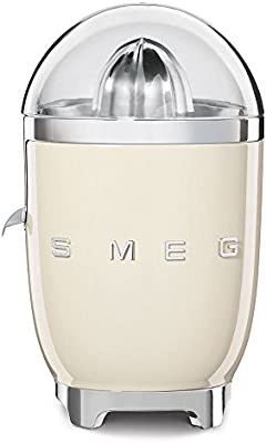 Smeg CJF01CREU 70W Crema de color prensa de cítricos eléctricos - prensas de cítricos eléctricos (Crema de color, Acero inoxidable, 1 m, 70 W, 220-240, 50/60 Hz)