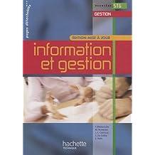 Information et gestion Première STG Gestion