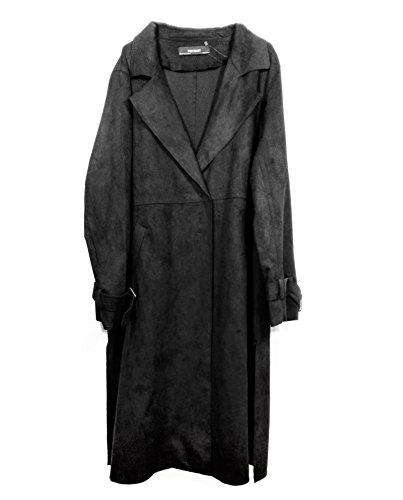ZARA Damen Trenchcoat in wildlederoptik 6318/025 (Large)
