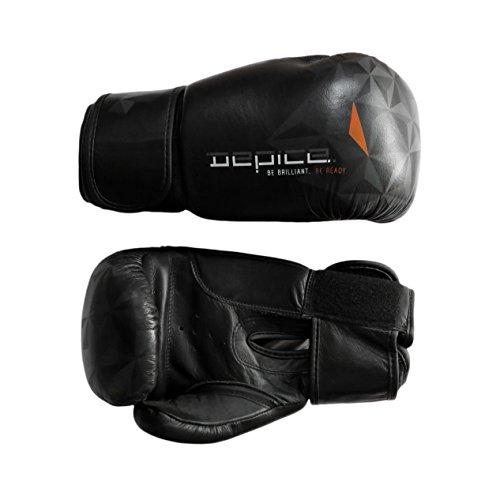 DEPICE topLine gants de boxe cuir-noir - 10 oz