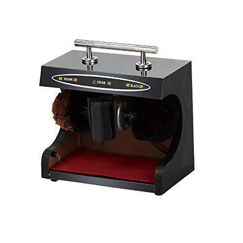 Vollautomatischer Schuhputzer für die Lobby Ihres Unternehmens, Schuhputzer, energiesparender Doppelbürstenkopf,Schwarz,Ordinary -