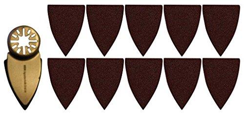 Agrartechnik-Graf Fingerschleifaufsatz Klettverschluß Inkl. 10 x Schleifpapier für Bosch GOP