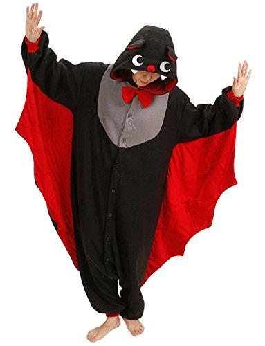 edermaus Erwachsene Kostüm Pajama Siamesische Kleidung Jumpsuit Pyjama Tier Cosplay XL (Beste Vogelscheuche Kostüm)