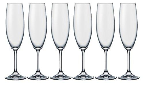Josef Mäser GmbH Mäser Série No Name Lot de 6 flûtes à champagne en cristal 22 cl