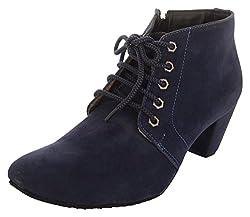 Exotique Womens Blue Suede Desert Boots - (EL0040_Blue) 38 EU