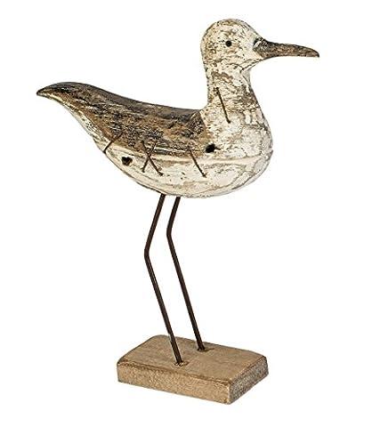Deko Möwe Holz Vogel Figur Maritim Möwenfigur Seemöwe Lachmöwe Holzmöwe Metall