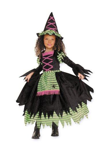 CesarCostume da strega in 2 pezzi (vestito e cappello), per bambino