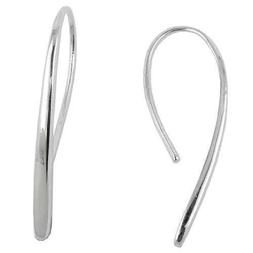 Durchzieher 33x2,5mm Ohrhaken Tropfen glänzend Silber 925