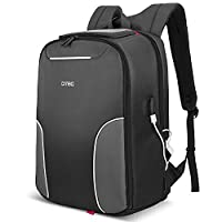 Laptop Backpack with USB Charging Port,DTBG 17.3 Inch Nylon Lightweight Durable Business Backpack Travel Bag Hiking Knapsack College Daypack for Laptop Notebook Computer 17 - 17.3 Inch, Black