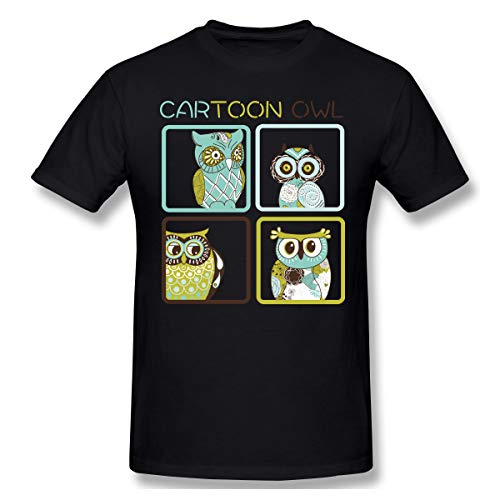 Milliebrown Casual Style Herrens I'm The Big Brother Owl T-Shirts Mit Herren-Kurzarm Black 3XL -