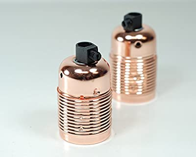 Retro Metal Vintage Lamp Light Bulb Holder | E27 ES SCREW | Copper | 2 pack from Vendimia Lighting Co.