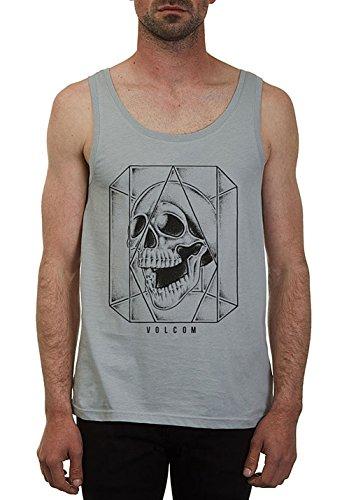 Volcom Ghost Lightweight Canotta da grigio T-Shirt senza maniche, Uomo, Ghost Lightweight Tank Top ärmelloses T-Shirt Herren Muskelshirt Grau, grigio, L
