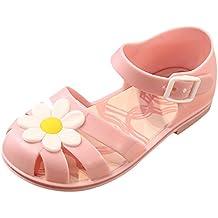Y-BOA Chaussures Ville Été Sandales Bout Fermé Bébé Fille Fleur Solide Léger Souple Voyage