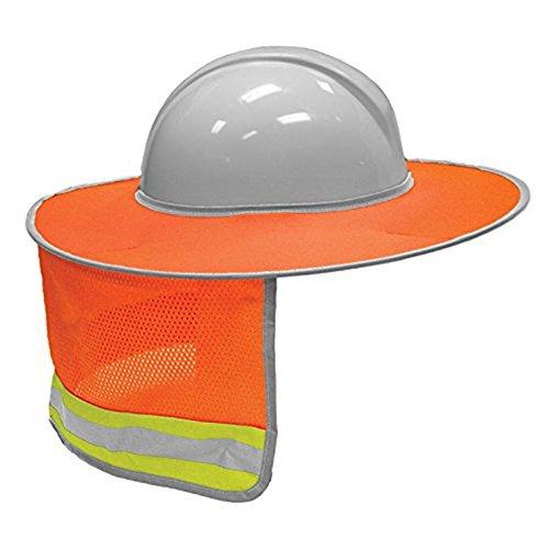 TOOGOO Bau-Schutzhelm Hals Schild Helm Sonnenschutz Reflexstreifen Kit Kit (Orange) -