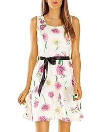 Damen Kleider, Skaterkleid, Blumenkleid k56pne