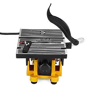 41IfwSnmyBL. SS300  - Mini sierra de mesa, herramienta de corte, sierra circular de mesa, sierra eléctrica Cutting, 4500 RPM