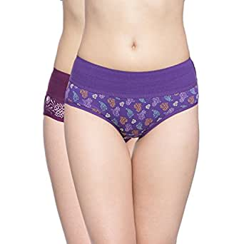 9b6b6d9a9fb Rosaline by Zivame Women s Cotton Hipster (Pack of 2)  (RO000R2238PPRBL000XL) Purple White