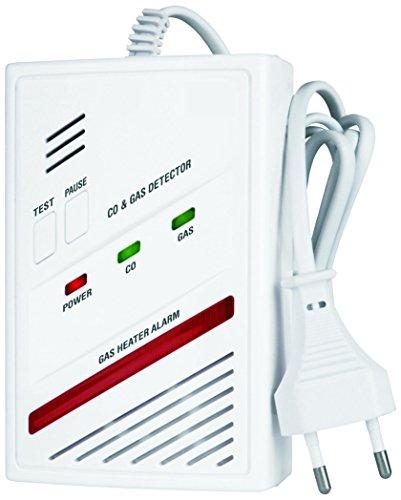 Smartwares RM337 SW 2-in-1 Kombi-Detektor, Kohlenmonoxid- und Gas-Melder (Butan, Propan, Methan) -