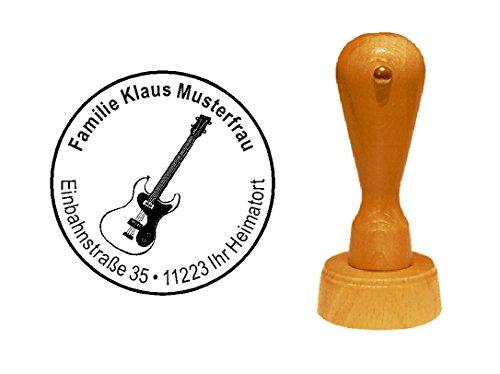 Sello sellos de madera diseño sello Bass Guitarra de « S »...