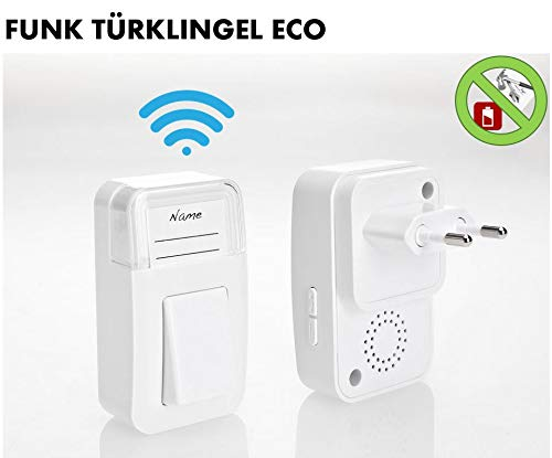 Sonnette de porte sans fil ECO – la sonnette écologique – pas besoin de piles et aucun câble