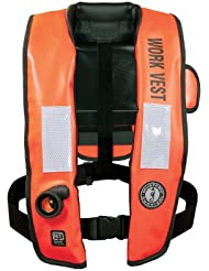Mustang Inflatable Work Vest WithHIT Orange by Mustang Survival