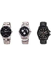 Watch Me Gift Combo Set Of Analog Watches For Men And Boys AWC-001-AWC-010-AWC-011 AWC-001-AWC-010-AWC-011omt