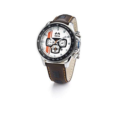 Reloj yema hombre blanco–naranja y negro–YMHF0704–Idea regalo Noel