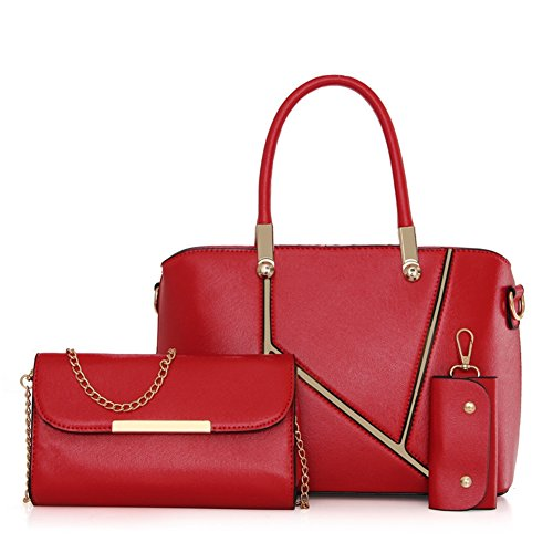 VOLSGEAT Borsa Messenger, Blue (blu) - LZN_14-961 Red