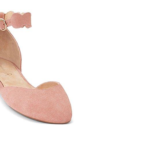La Redoute Mademoiselle R Donna Ballerine Cinturino Alla Caviglia Rosa Antico