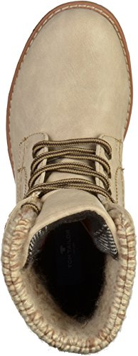 Tom Tailor 3792001, Bottes Rangers Femme Off White