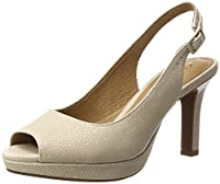 Clarks Women�??s Mayra Blossom Wedge Heels Sandals, Beige (Nude Nubuck), 7.5 UK