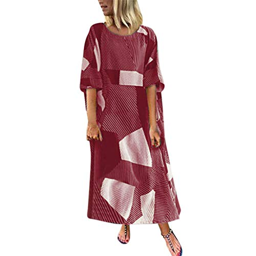 Crylee Damen Frauen Floral Cotton Dress Europäisches und amerikanisches geometrisches Langarmkleid Herbst Explosion -