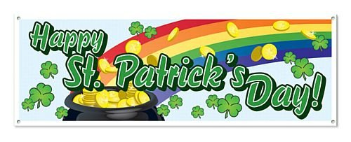 idealWigsNet All Weather St Patrick's Tag PVC Banner - 1.52m