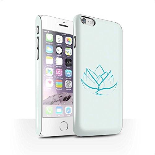 STUFF4 Glanz Snap-On Hülle / Case für Apple iPhone 6+/Plus 5.5 / Zen Statue Muster / Innerer Frieden Kollektion Lilie/Vermögen