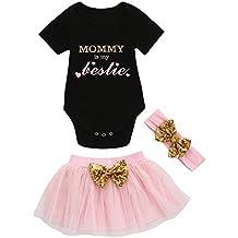 Ropa Bebe niña Absolute Traje de los niños Lindos Camiseta Infantil bebé Batas de bebé de