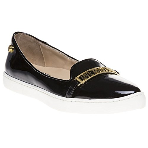 Love Moschino Pointed Logo Slip On Donna Scarpe Nero