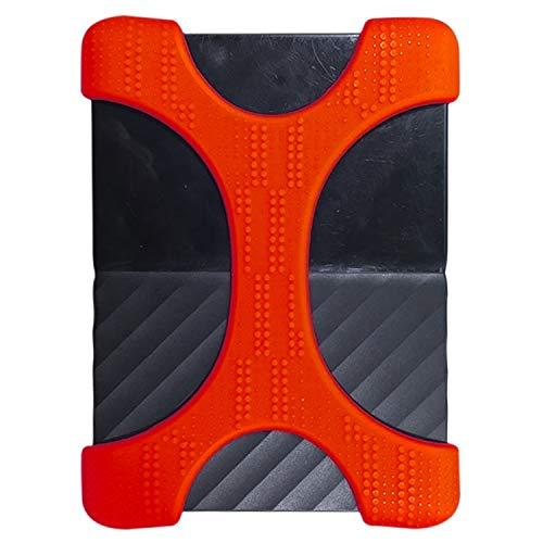MKOKO X-Typ 2,5 Zoll Tragbare Festplatte Silikonhülle for 2TB-4TB WD & SEAGATE & Toshiba Portable Festplatte, ohne Loch Dauerhaft (Farbe : Red) (2 Tb Western Red)