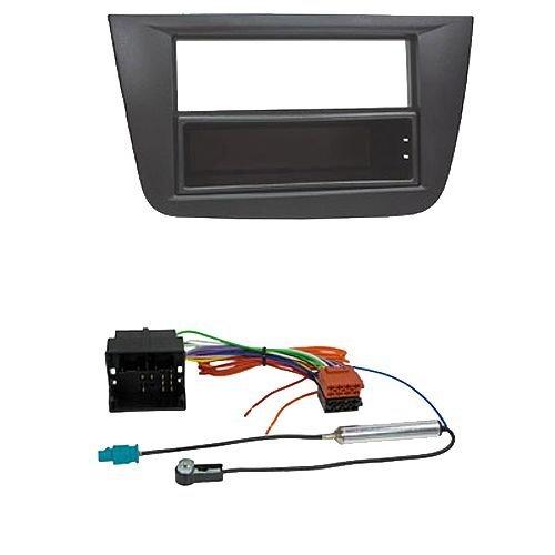 Kit de instalación de radio de coche para Seat (Altea, Toledo), color negro