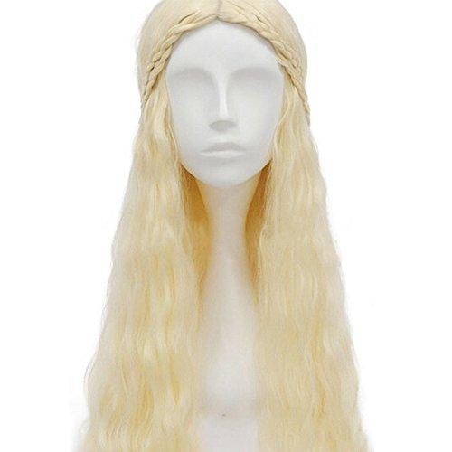 thematys Khaleesi Daenerys Targaryen Perücke Wig - Game of Thrones Kostüm für Erwachsene - perfekt für Fasching, Karneval & Cosplay - ()