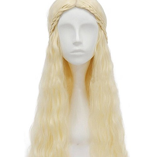 thematys Khaleesi Daenerys Targaryen Perücke Wig - Game of Thrones Kostüm für Erwachsene - perfekt für Fasching, Karneval & Cosplay - - Khaleesi Daenerys Targaryen Kostüm