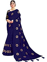 f2e0667ac1 Being Banarasi Women's Silk Embroidered Saree with Blouse Piece(Free Size)