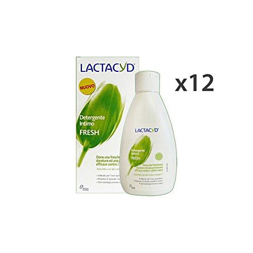 Lot 12 Lactacyd Savon intime Fresh 200 ml. Les savons et cosmétiques