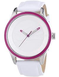 Lacoste - 2000818 - Montre Femme - Quartz Analogique - Cadran Blanc - Bracelet Cuir Blanc