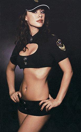 t Polizistin Kostüm -Spiel Kleid Punkte-System -Service -Uniformen Versuchung, Rollenspiel weiblichen Polizeidienst (Damen Polizistin Kostüm)