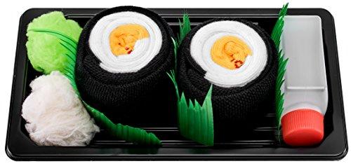 Rainbow Socks - Damen Herren - Sushi Socken Oshinko Maki - Lustige Geschenk - 1 Paar - Größen EU 41-46