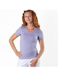Puma Essential V Tee 504057-3 Femme Tee Shirt Manche Courte Lilas