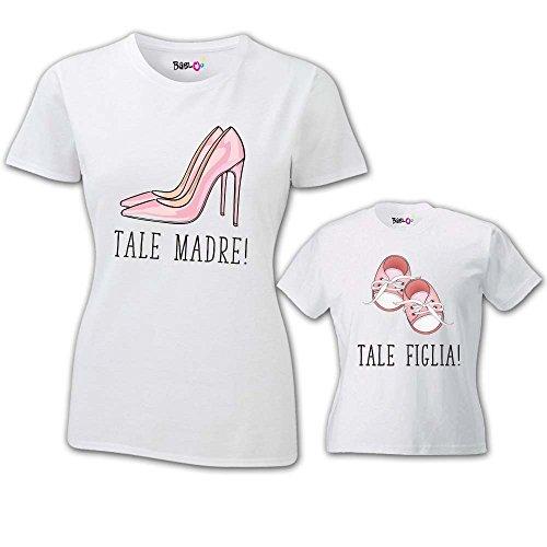 Coppia di T Shirt Maa per Bambino e Mamma Tale Madre Tale Figlia