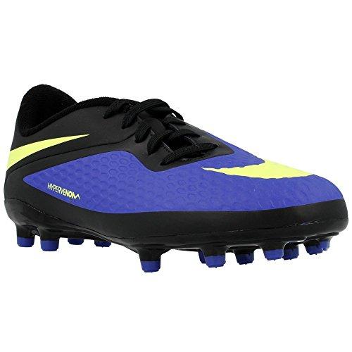 Nike - JR Hypervenom Phelon FG - 599062470 - Couleur: Bleu marine-Noir-Vert clair - Pointure: 33.5