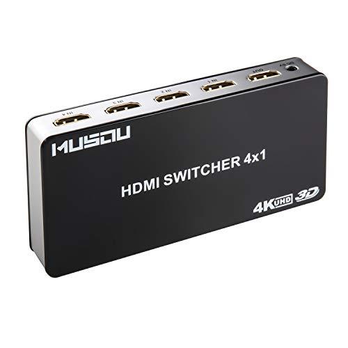 Musou HDMI Switch 4x1 4 entradas 1 salida Inteligente