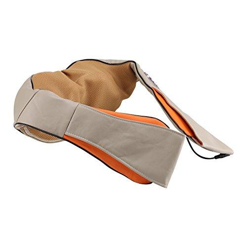MultiWare Schulter Massagegeräte Shiatsu Nackenmassagegerät Elektrische Infrarote Massagekissen Mit 3D-Rotation Wärme Massageköpfen Abziehbarem Bezug Einstellungsmöglichkeiten für Zuhause Auto (Schulter Massagegeräte)